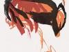 Feuilles rouges / 32 x 25 cm / 2017 (série Mes Rivières)